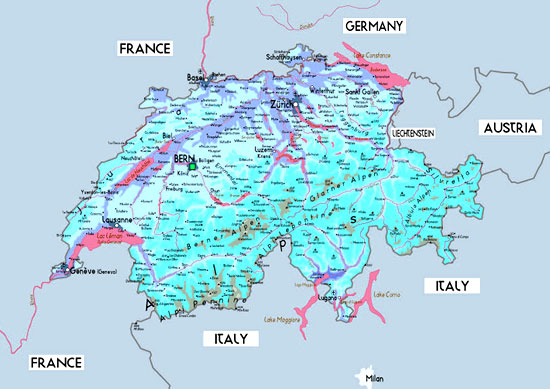 Switzerland Map Swiss Map Country Switzerland Tourist Map – Tourist Map of Switzerland